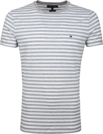 Tommy Hilfiger T-shirt Streep Lichtgrijs