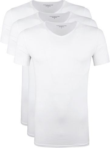 Tommy Hilfiger T-shirts Wit (3Pack)