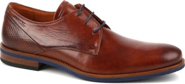 Van Lier Dress Shoes Nubuck Combi Cognac