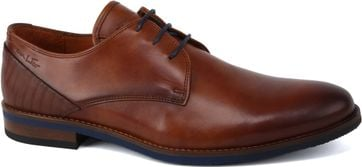 Van Lier Dress Shoes Smooth Leather Cognac