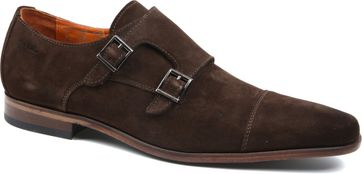 Van Lier Shoe Double Monkstrap Brown
