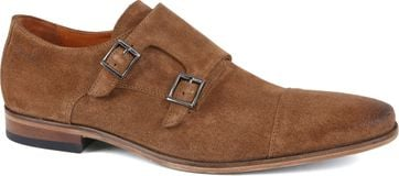 Van Lier Shoe Double Monkstrap Cognac