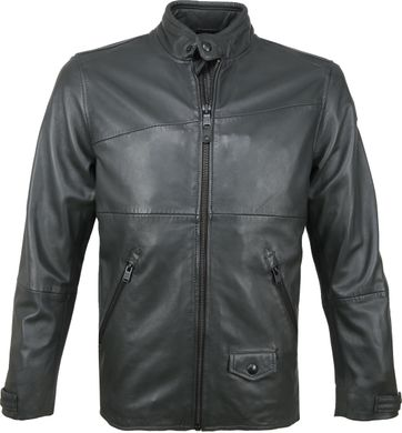 Vanguard Bikebolt Leather Jacket Ebony