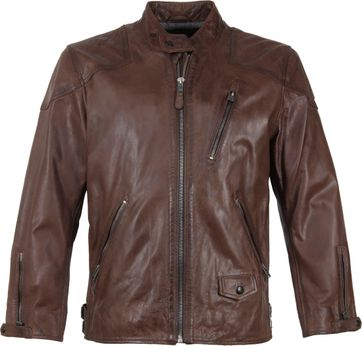 Vanguard Brakeride Leather Jacket Brown