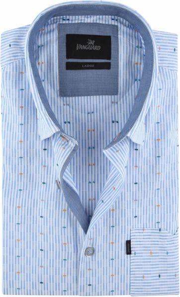Vanguard Hemd Blau Streifen