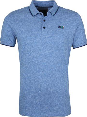 Vanguard Poloshirt Mouline Jersey Blue