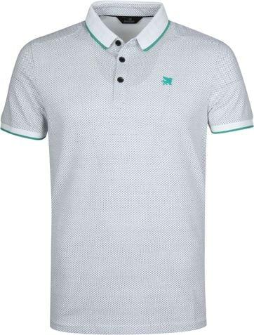 Vanguard Poloshirt Pique Design White