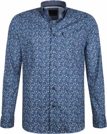 Vanguard Print Overhemd Cirkels Blauw