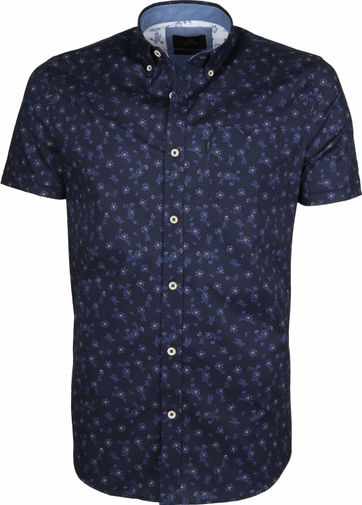 Vanguard Shirt Flowers Dark Blue
