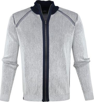 Vanguard Zip Jacke Weiß Streifen