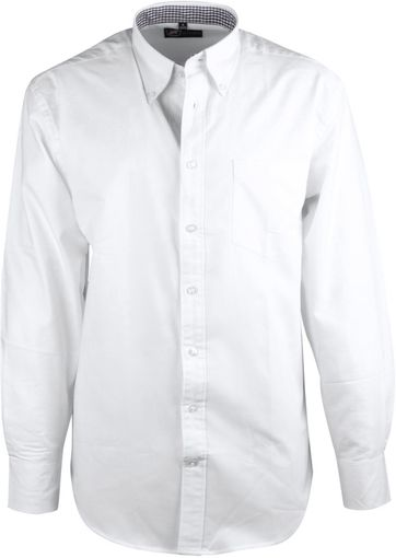 White Casual Shirt Oxford