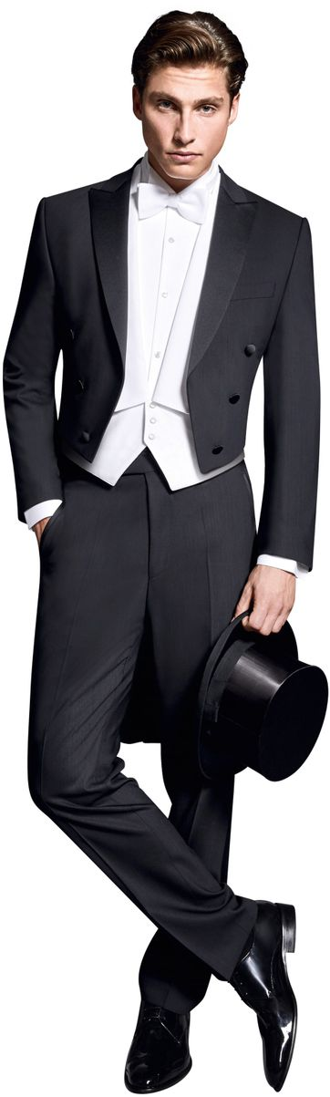 Wilvorst Tailcoat Black Wool