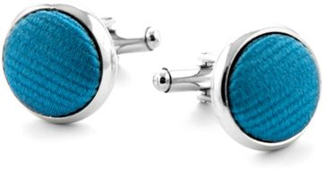 Zijde Manchetknoop Licht Kobalt F19