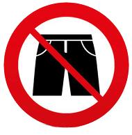 Verboden-korte-broek