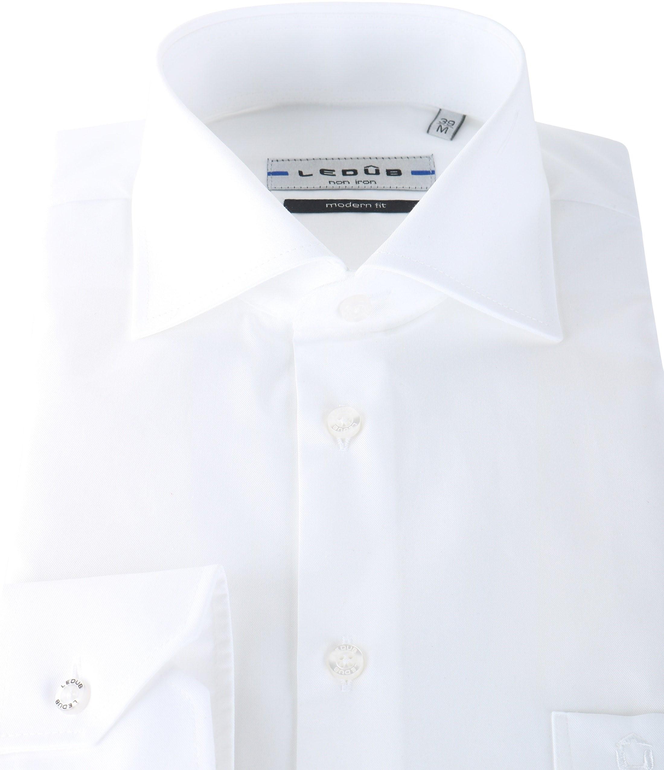 wit non iron overhemd