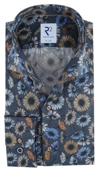 R2 overhemd met bloemen print