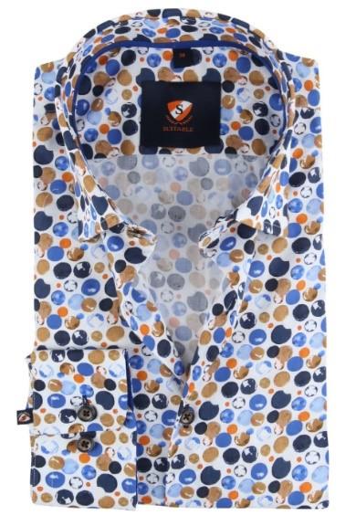 Suitable overhemd met stippen print