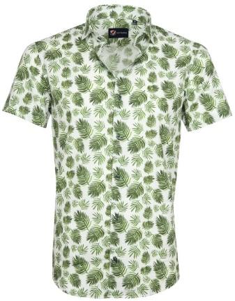 Overhemd korte mouwen met print