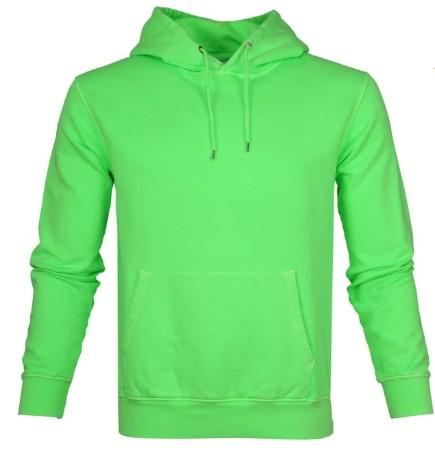 Colourful standard hoodie neon groen