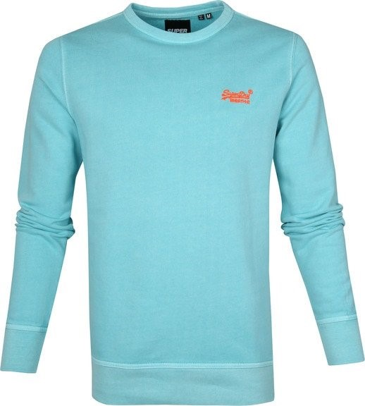 Superdry sweater lichtblauw neon detail