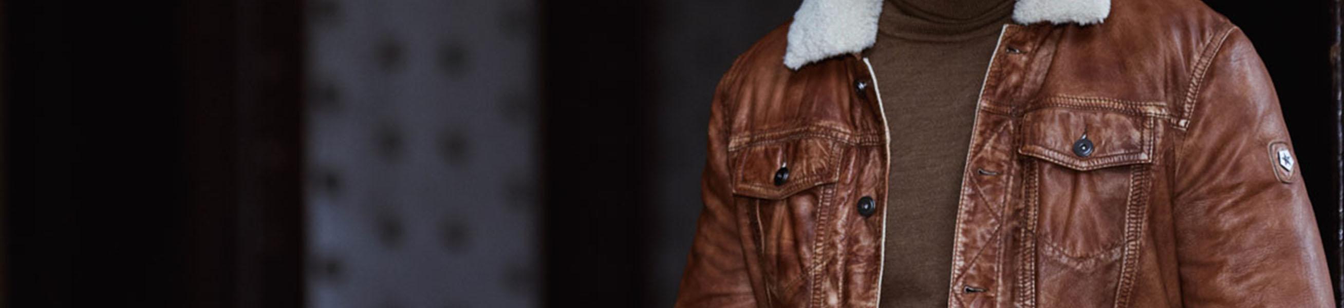 Leather Men's Coats