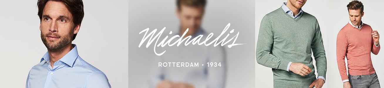 Italiaans design, eigentijdse slim-fit pasvorm en luxe stoffen. Ontdek de hemden van Michaelis.