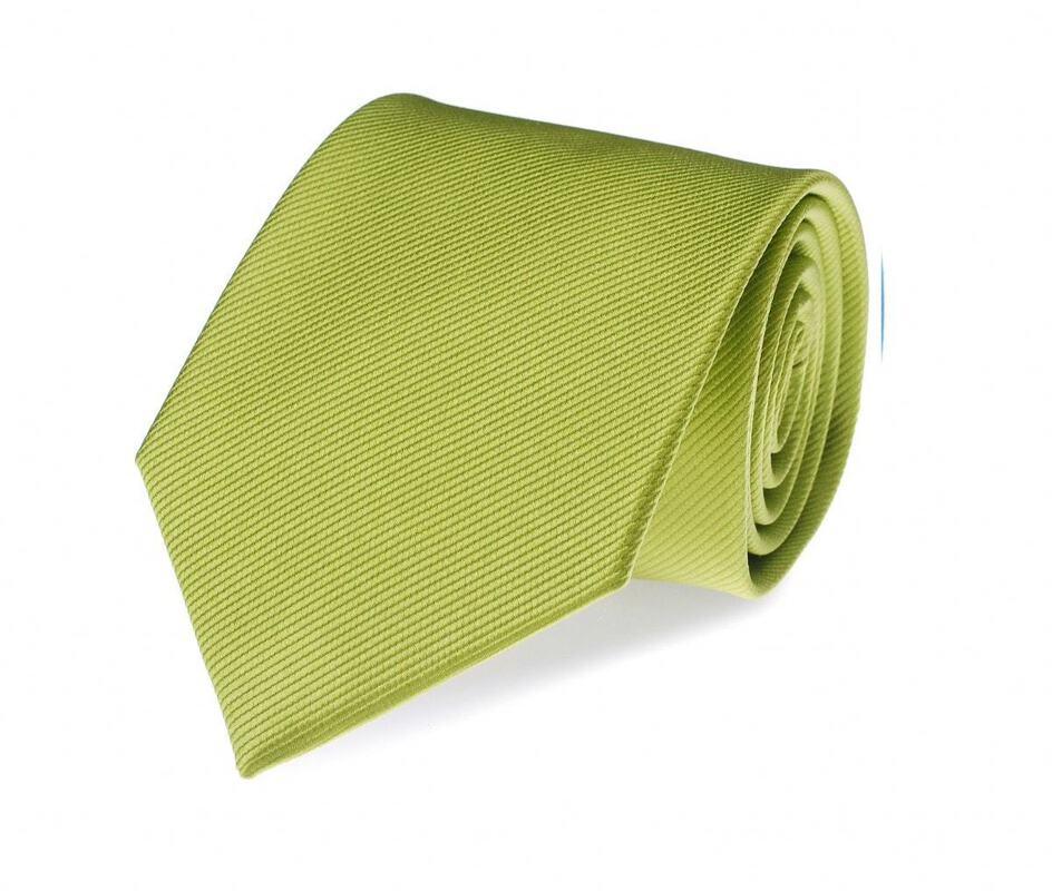Stropdas Zijde Lime Groen Uni F04