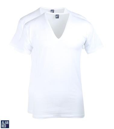 Alan Red T-Shirt Extra Diepe V-Hals Stretch
