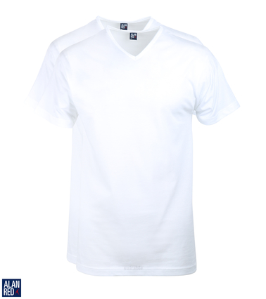 V-Hals T-Shirt Alan Red Vermont (2pack)