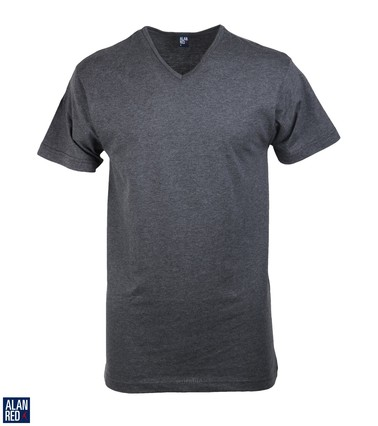 Alan Red T-Shirt V-Hals Vermont Antraciet (1pack)