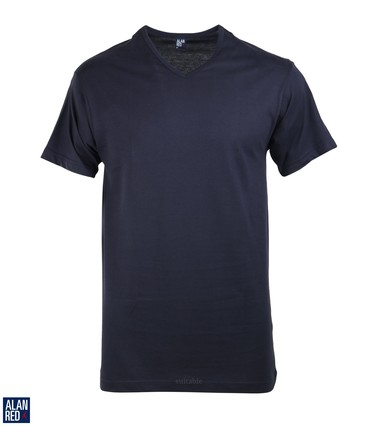 Alan Red T-Shirt V-Hals Vermont Navy (1pack)