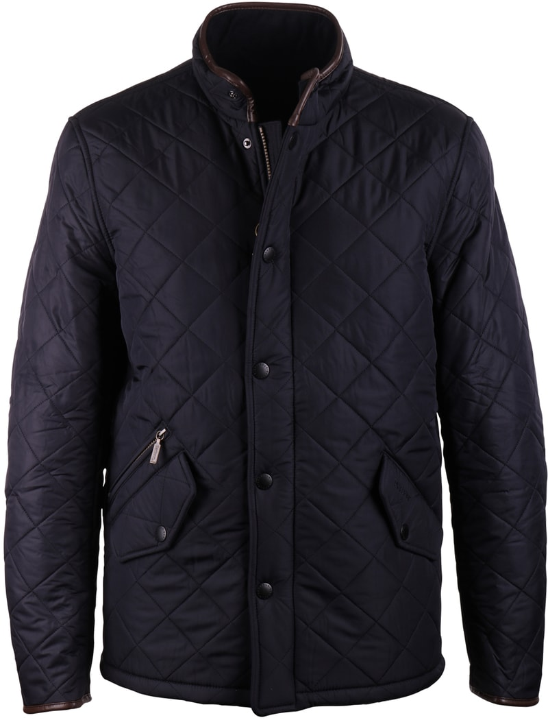 Barbour Quilted Jas Powell Navy