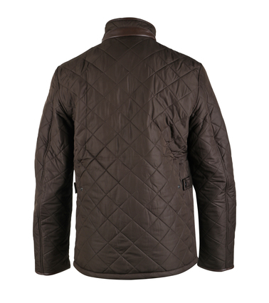 Detail Barbour Quilted Jas Powell Olijf
