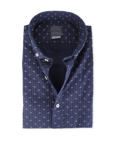 Bertoni Overhemd Malte Donkerblauw