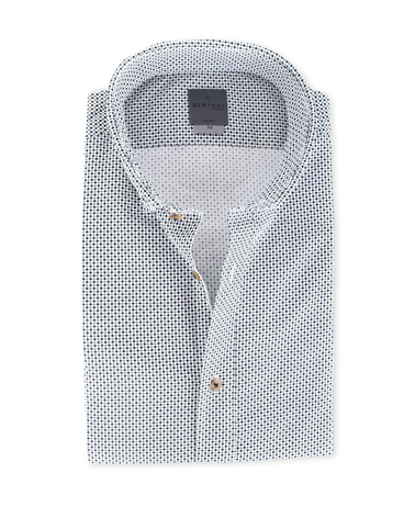 Bertoni Overhemd Malte Zwart Wit