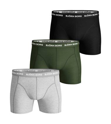 Bjorn Borg Boxers Solid Stretch 3 Pack Melange