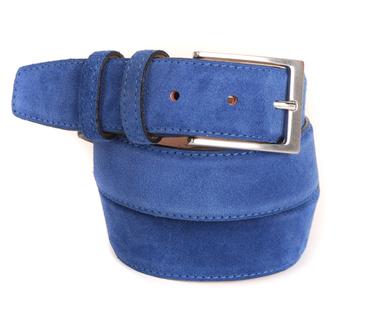 Blauwe Suede Riem 10-04