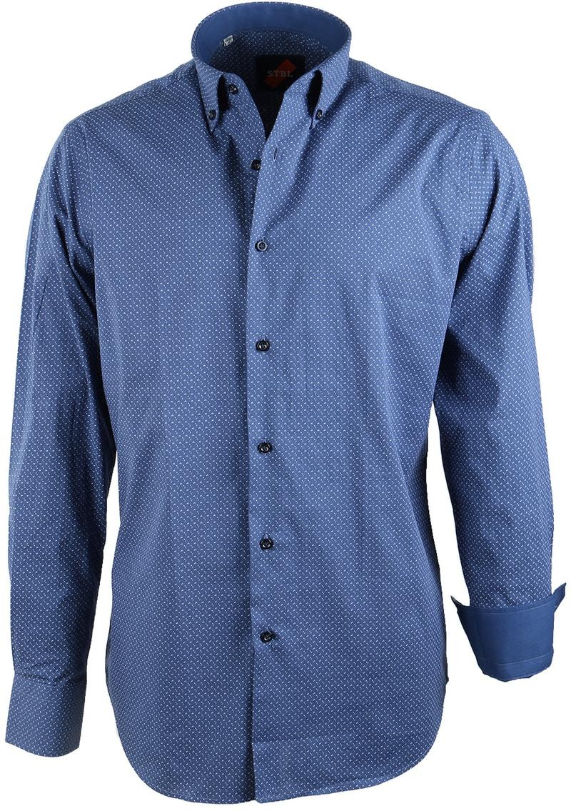 Casual Overhemd Blauw Print