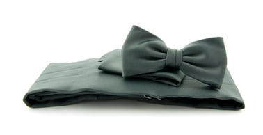 Cumberband + Bow Tie Dark Grey photo 0