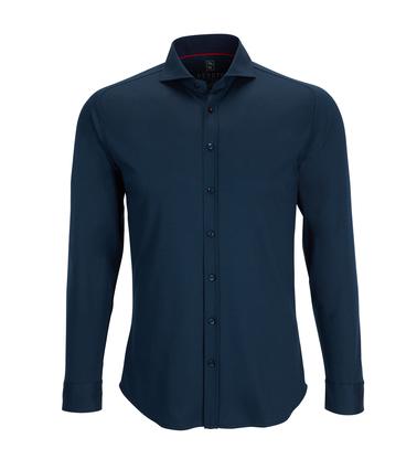 Desoto Overhemd Strijkvrij Donkerblauw