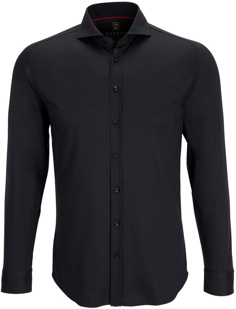 Detail Desoto Overhemd Strijkvrij Zwart