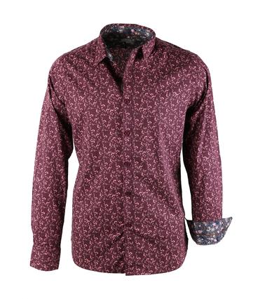 Dstrezzed Bloemetjes Overhemd Bordeaux