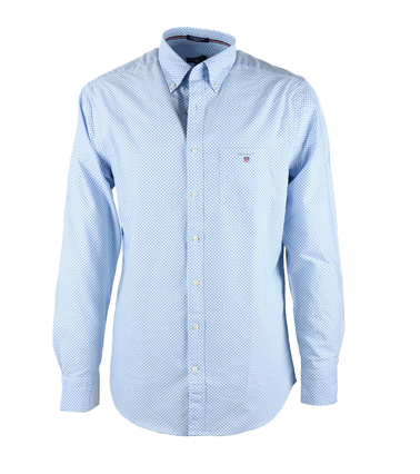 Gant Shirt Blue Pinpoint