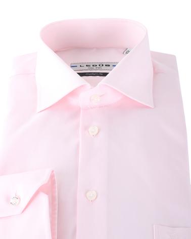 Detail Ledub Overhemd Roze Non Iron