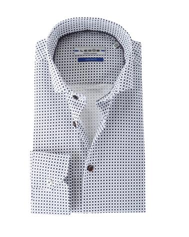 Ledub Overhemd Wit Print
