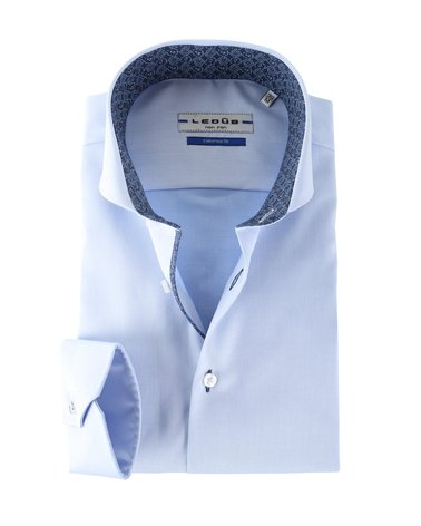 Ledub Shirt Blauw Non Iron