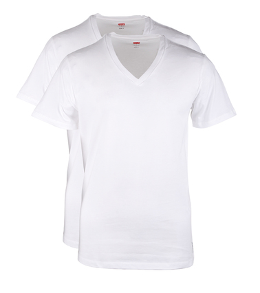 Levi's T-shirt V-Hals Wit 2Pack