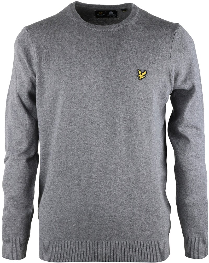 Detail Lyle & Scott Pullover O-Neck Grijs