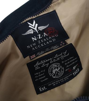 Detail New Zealand Auckland Weekendtas Donkerblauw