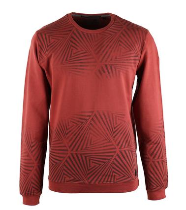 No-Excess Sweater Brique Print